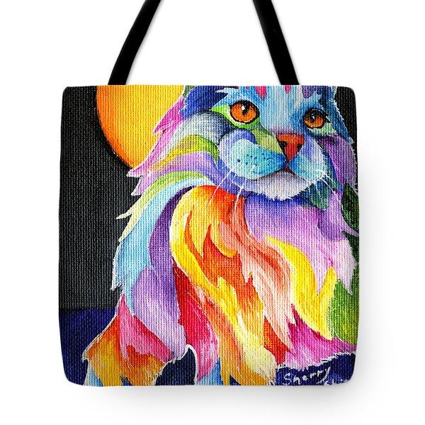 Tutti Fruiti Kitty Tote Bag by Sherry Shipley