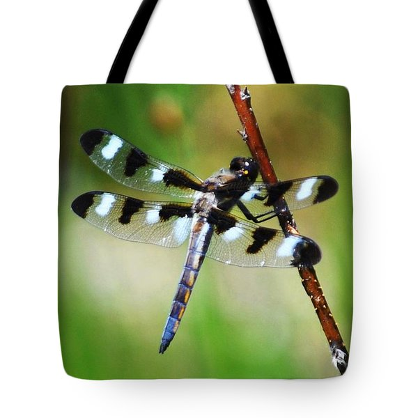 Tote Bag featuring the photograph Twelve Spotted Skimmer by Rodney Campbell