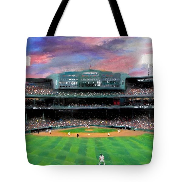 Twilight at Fenway Park Tote Bag by Jack Skinner