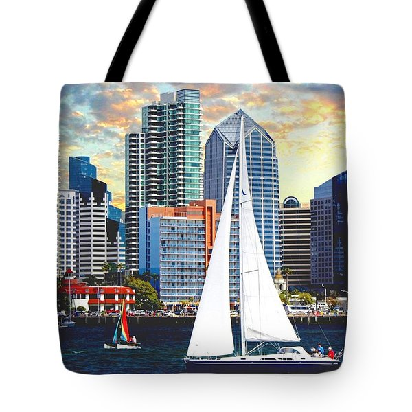 Twilight Harbor Curise1 Tote Bag by Ronald Chambers