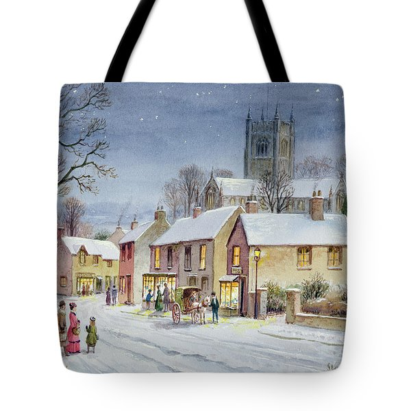 Twilight In The Village Tote Bag by Stanley Cooke
