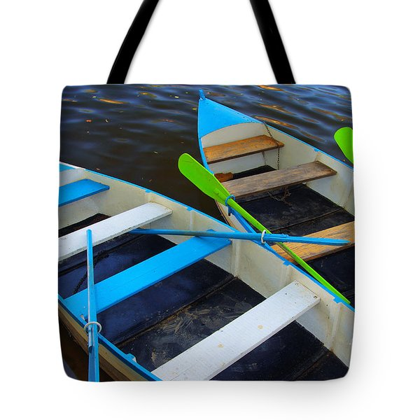 Two boats Tote Bag by Carlos Caetano