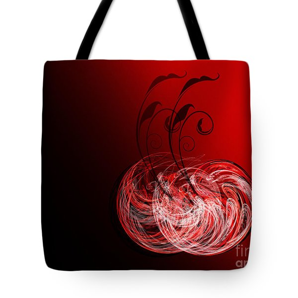 Two Cheery Cherries Tote Bag by Andee Design