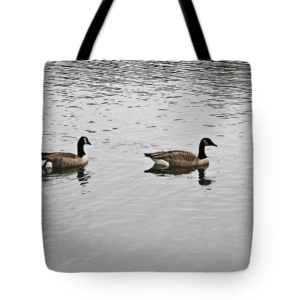 Two Lovely Canadian Geese Tote Bag by Douglas Barnett