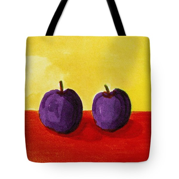 Two Plums Tote Bag by Michelle Calkins