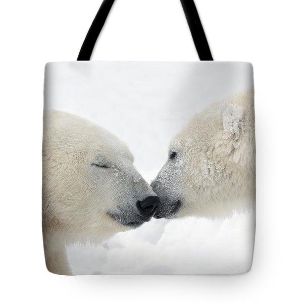 Two Polar Bears Ursus Maritimus Tote Bag by Richard Wear