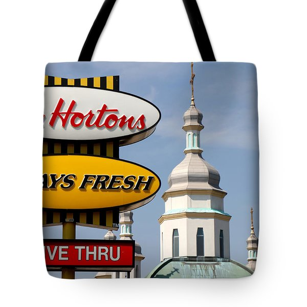 Two Religions Tote Bag by Andrew Fare