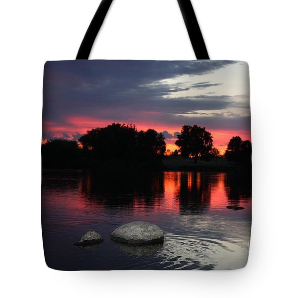 Two Rocks Sunset In Prosser Tote Bag by Carol Groenen