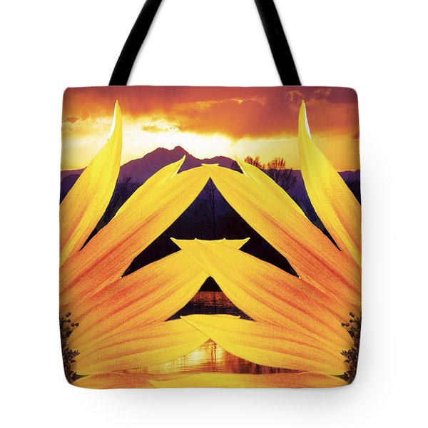 Two Sunflower Sunset Tote Bag by James BO  Insogna