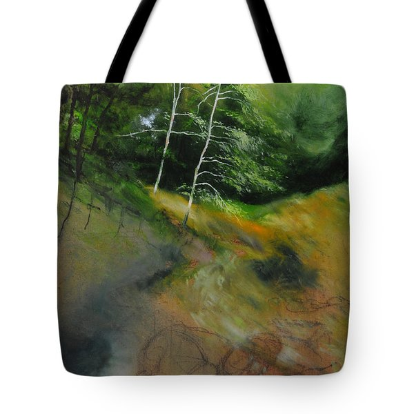 Two Trees In Light Tote Bag by Harry Robertson