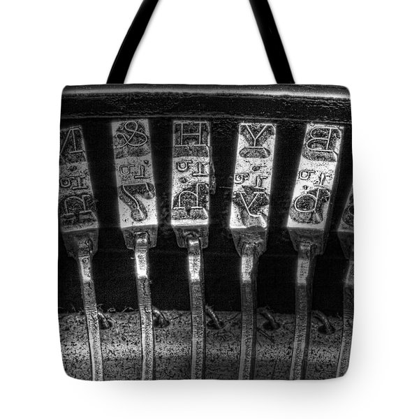 Typewriter Keys Tote Bag by Tom Mc Nemar