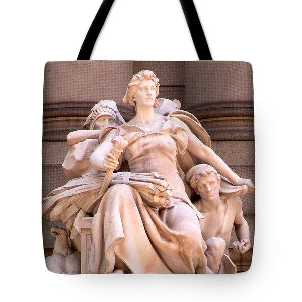 U S Custom House 4 Tote Bag by Randall Weidner
