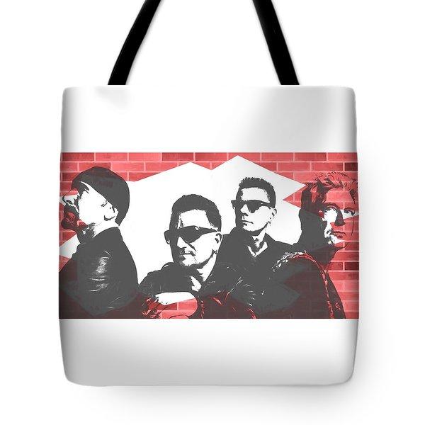 U2 Graffiti Tribute Tote Bag by Dan Sproul