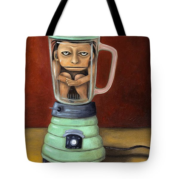 Uh Oh Tote Bag by Leah Saulnier The Painting Maniac