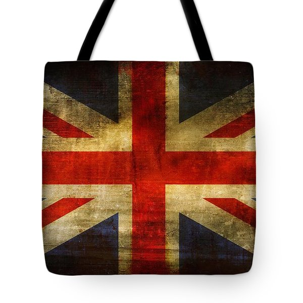 UK Flag Tote Bag by Brett Pfister
