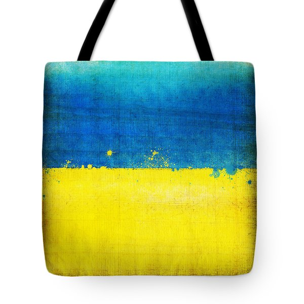 Ukraine Flag Tote Bag by Setsiri Silapasuwanchai