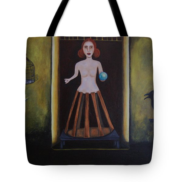 Uncaged Tote Bag by Leah Saulnier The Painting Maniac