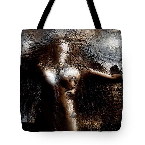 Unchain My heART Tote Bag by Carol Cavalaris
