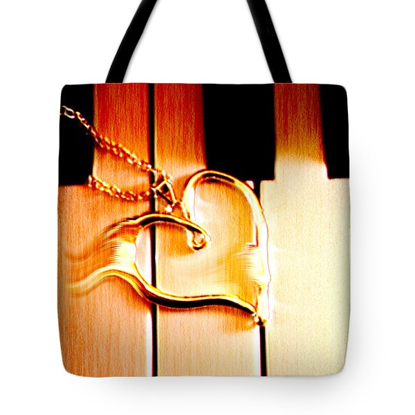 Unchained Melody Tote Bag by Linda Sannuti