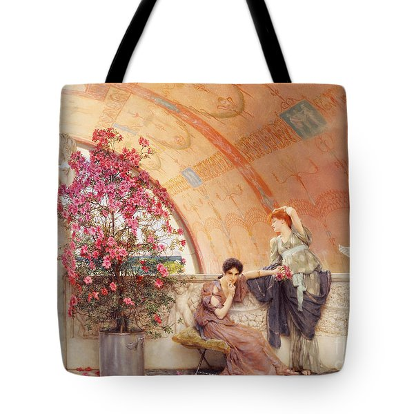 Unconscious Rivals Tote Bag by Sir Lawrence Alma Tadema