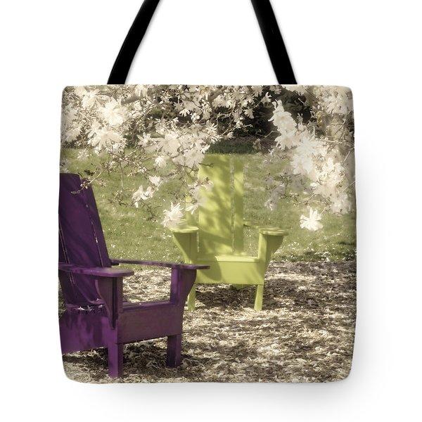 Under The Magnolia Tree Tote Bag by Tom Mc Nemar