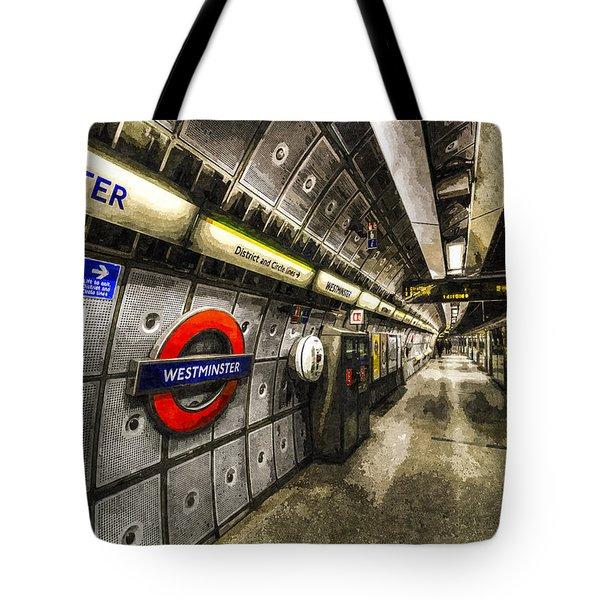 Underground London Art Tote Bag by David Pyatt