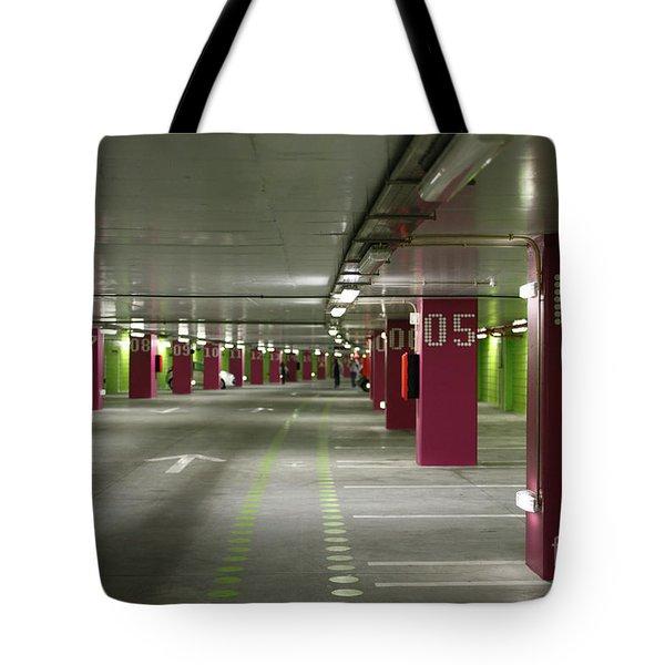 Underground Parking Lot Tote Bag by Gaspar Avila