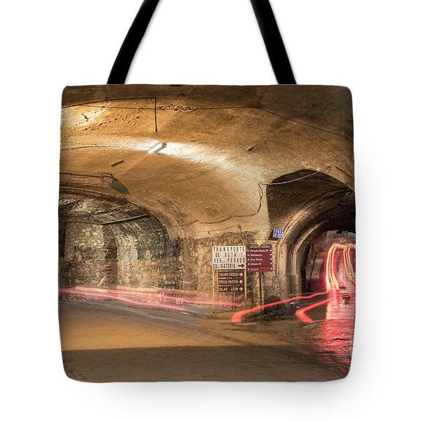Underground Tunnels In Guanajuato, Mexico Tote Bag by Juli Scalzi