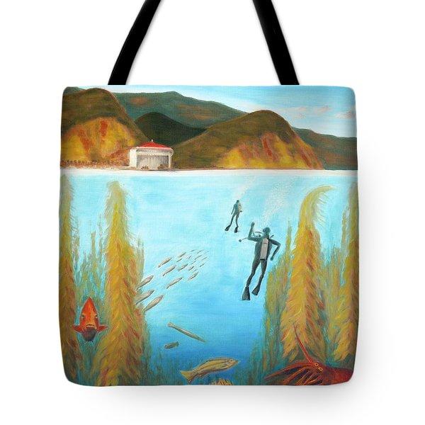 Underwater Catalina Tote Bag by Nicolas Nomicos
