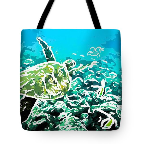 Underwater Landscape 1 Tote Bag by Lanjee Chee