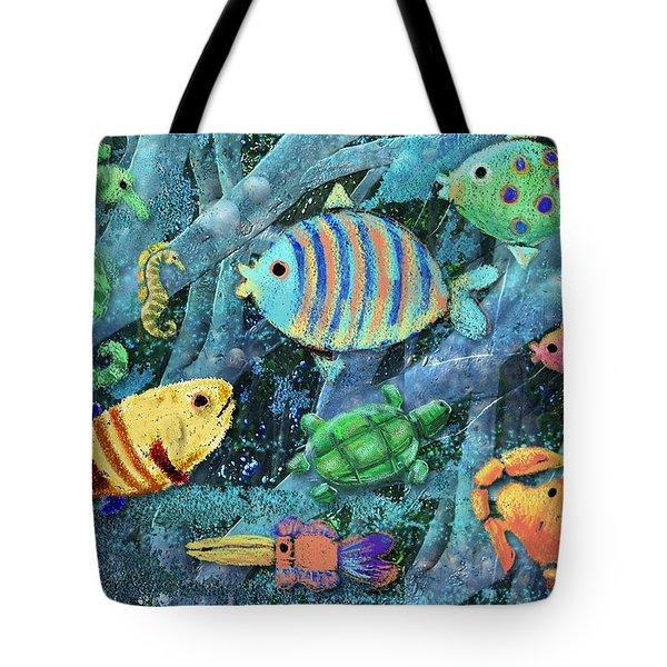 Underwater Maze Tote Bag by Arline Wagner