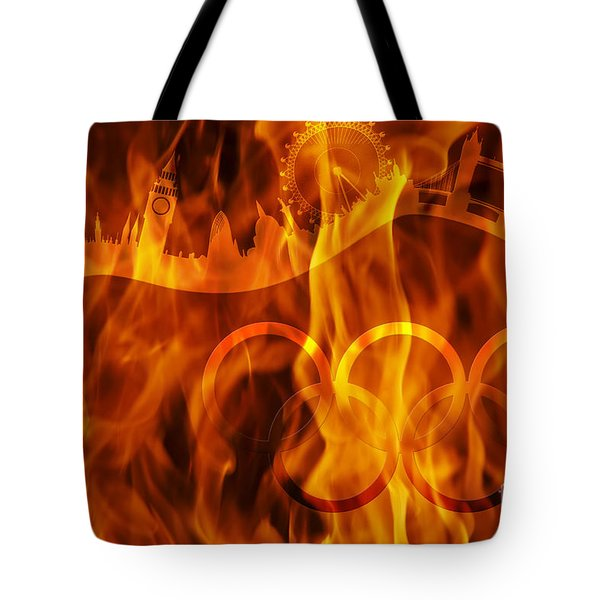 undying Olympic flame Tote Bag by Michal Boubin