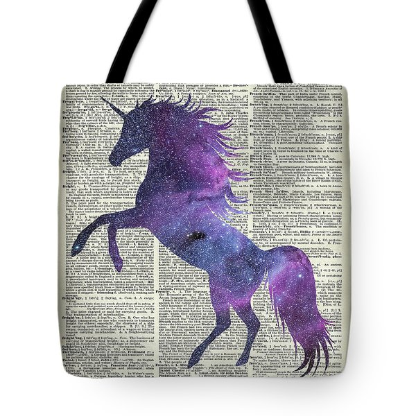 Unicorn In Space Tote Bag by Jacob Kuch
