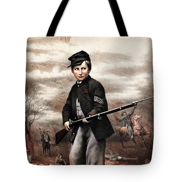 Union Drummer Boy John Clem Tote Bag by War Is Hell Store