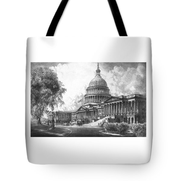 United States Capitol Building Tote Bag by War Is Hell Store