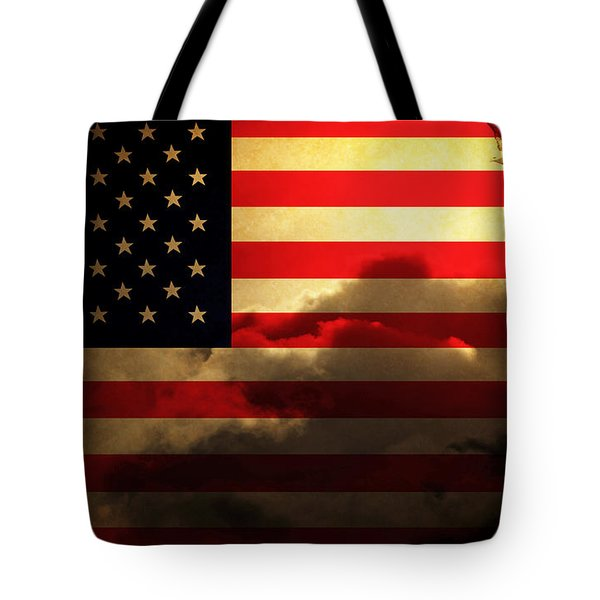 United States Of America . Land Of The Free Tote Bag by Wingsdomain Art and Photography