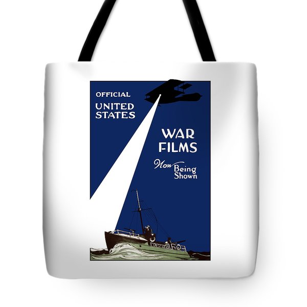 United States War Films Now Being Shown Tote Bag by War Is Hell Store