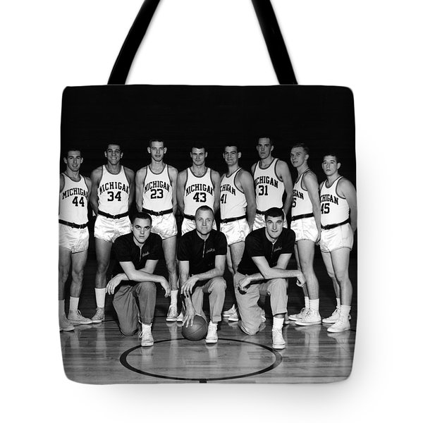 University Of Michigan Basketball Team 1960-61 Tote Bag by Mountain Dreams