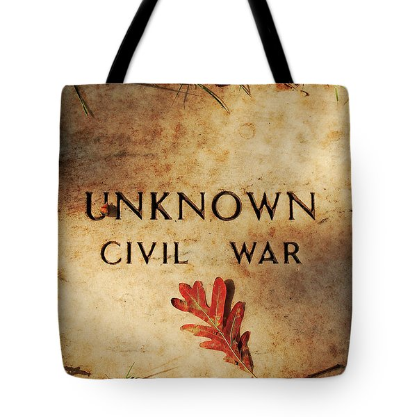 Unknown Civil War Tote Bag by Kathleen K Parker