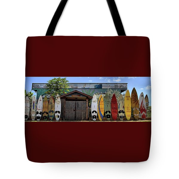 Upcountry Boards Tote Bag by DJ Florek