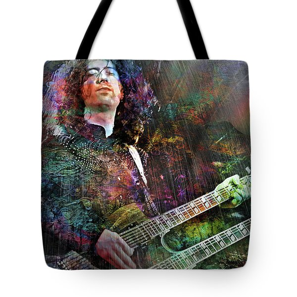 Upon Us All A Little Rain Must Fall Tote Bag by Mal Bray