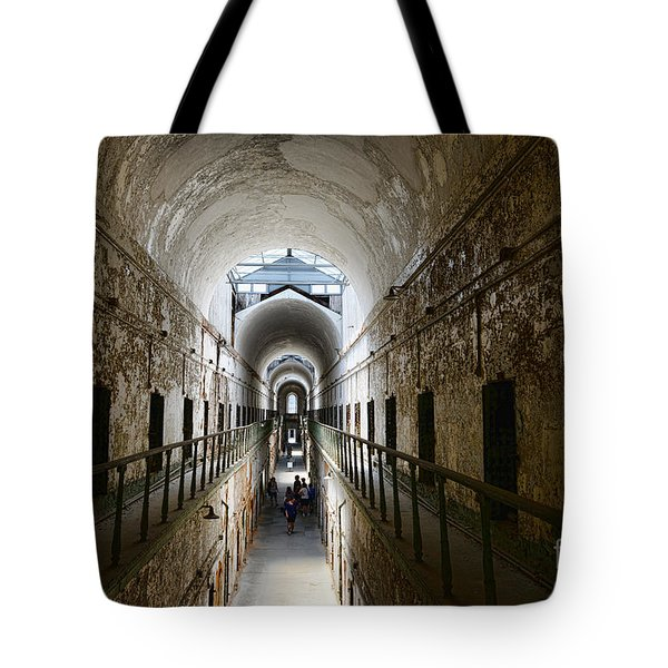 Upper Cell Blocks Tote Bag by Paul Ward