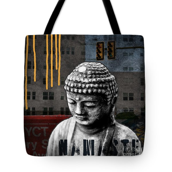 Urban Buddha  Tote Bag by Linda Woods