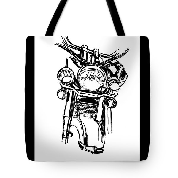 Urban Drawing Motorcycle Tote Bag by Chad Glass
