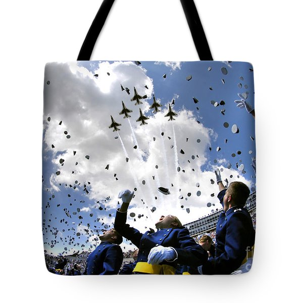U.s. Air Force Academy Graduates Throw Tote Bag by Stocktrek Images