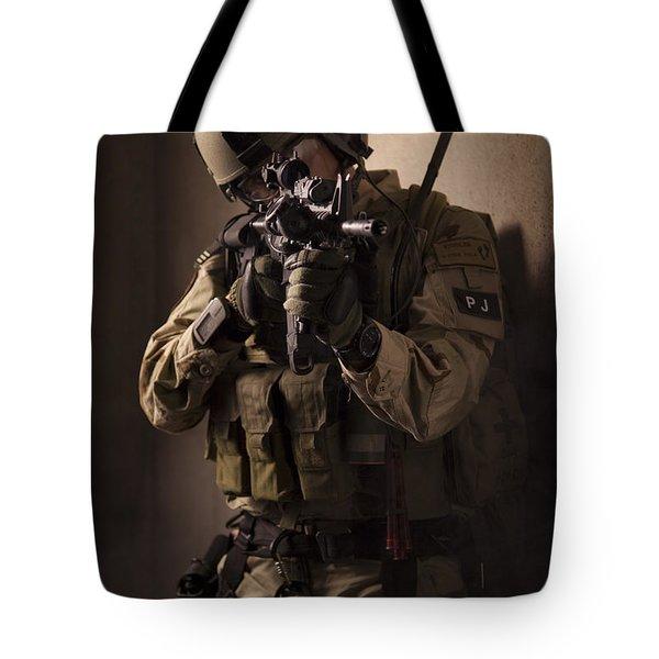 U.s. Air Force Csar Parajumper Armed Tote Bag by Tom Weber