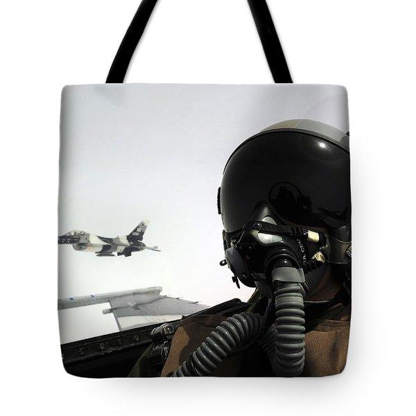 U.s. Air Force Pilot Takes Tote Bag by Stocktrek Images