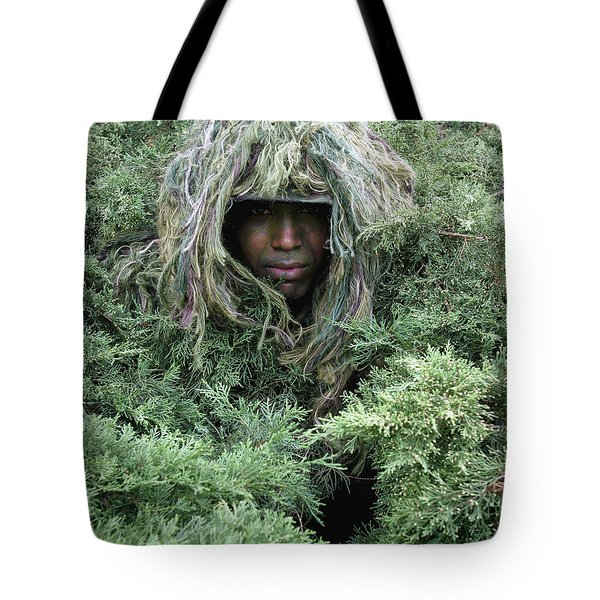 U.s. Army Soldier Demonstrates The Use Tote Bag by Stocktrek Images