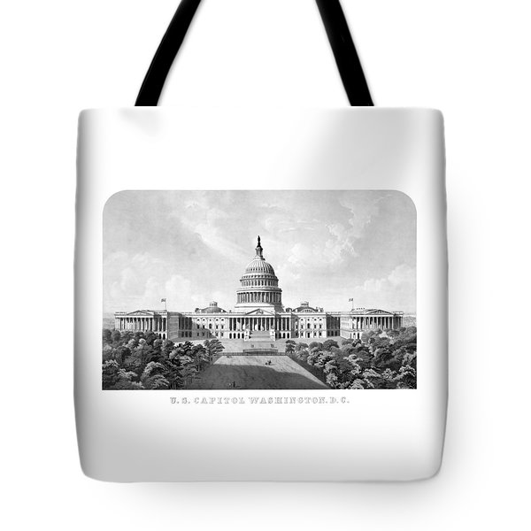 Us Capitol Building - Washington Dc Tote Bag by War Is Hell Store