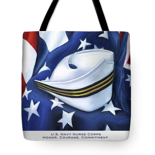 U.s. Navy Nurse Corps Tote Bag by Marlyn Boyd
